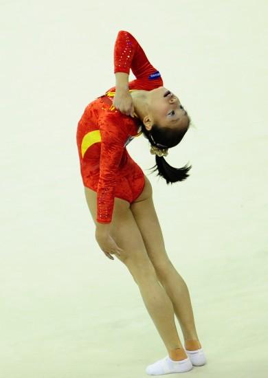 图文-体操世锦赛18日决赛赛况中国选手眭禄陶醉表现