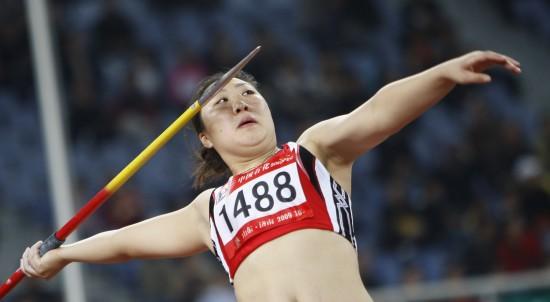 图文-全运会女子标枪决赛赛况解放军队张莉获亚军