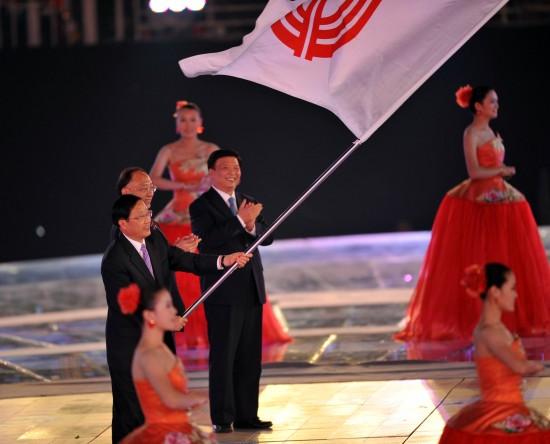 图文-第十一届全国运动会闭幕式四年后看辽宁的