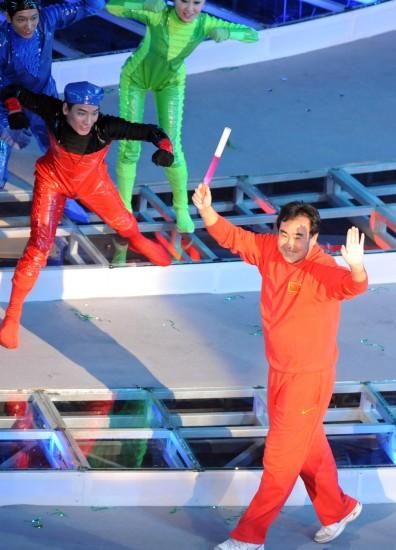图文-第十一届全运会举行闭幕式体育界的元老