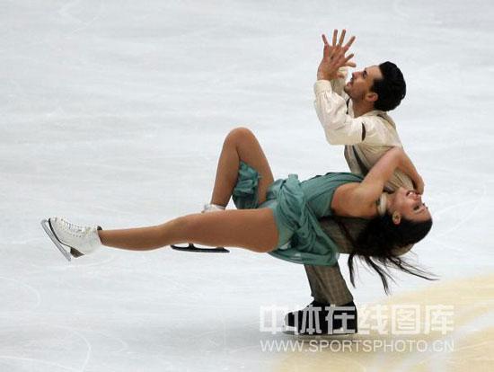 图文-中国杯冰舞自由舞赛况费埃拉/斯卡利柔情