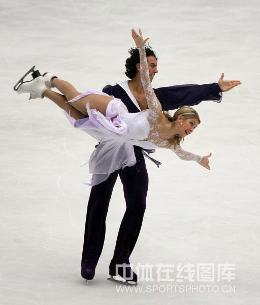 图文-中国杯冰舞自由舞赛况贝尔宾/阿冈斯托强悍