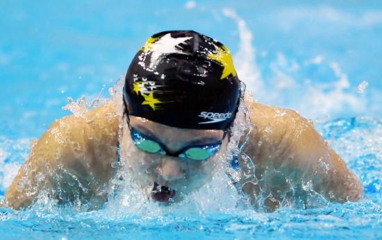 图文-游泳亚锦赛28日精彩瞬间中国队选手刘京