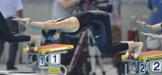 图文-刘京获200米个人混合泳亚军刘京在比赛中