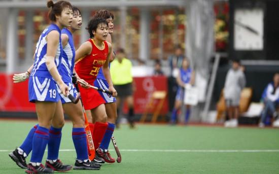 图文-东亚运会女曲决赛赛况许晓旭寻找机会