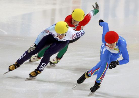 图文-短道速滑欧锦赛 意大利方塔娜女子500米折桂