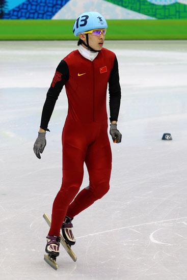 图文-冬奥短道速滑男子1500米预赛宋伟龙很平静