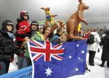 澳大利亚观众欢呼