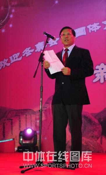 图文-总局举行联欢会欢迎冬奥代表团段世杰讲话