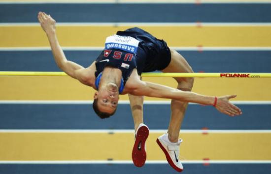图文-室内世锦赛男子跳高决赛美国选手约纳斯