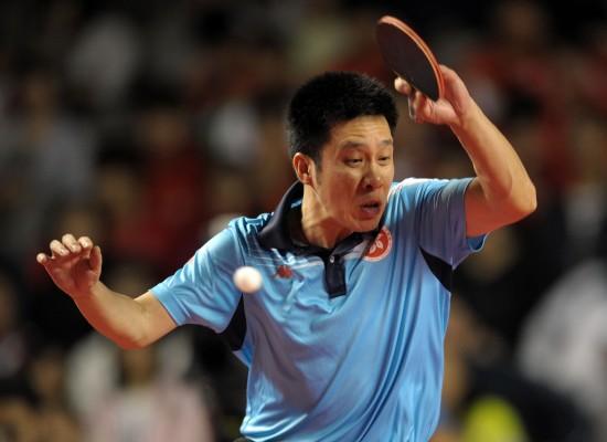 图文-许昕获得亚洲杯男单第三名高礼泽在比赛中