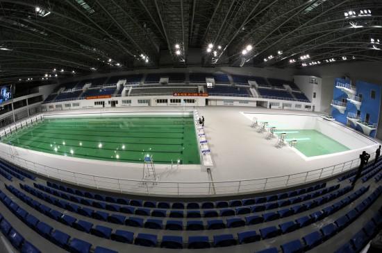 图文-广州亚运会新建场馆奥体游泳跳水馆内景