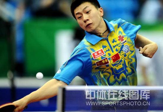 图文-世乒赛男团中国3-0俄罗斯马龙横扫千军之势