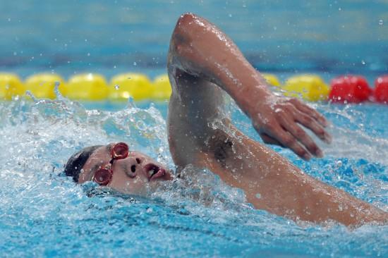 图文-全国青年游泳锦标赛20日祖立军1500米夺冠
