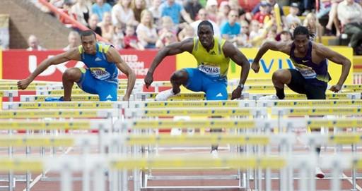 图文-钻石联赛盖茨海德站托马斯110米栏夺冠