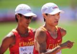 中国选手并肩作战