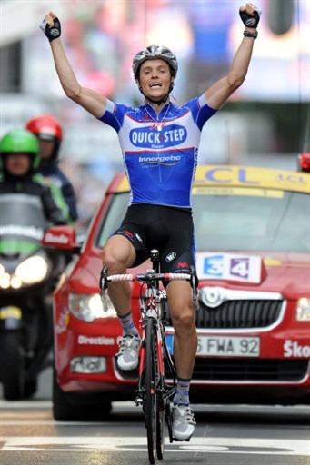 图文-2010环法各赛段英雄榜第二赛段冠军沙瓦内尔