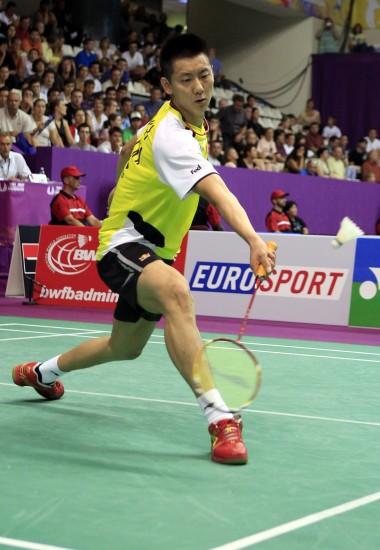 图文-羽毛球世锦赛第2日男单赛况红鞋带来好运