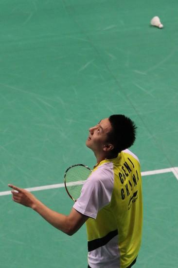 图文-羽毛球世锦赛第2日男单赛况陈金在找球吗