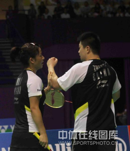 图文-羽毛球世锦赛郑波/马晋晋级四强两个人的胜利