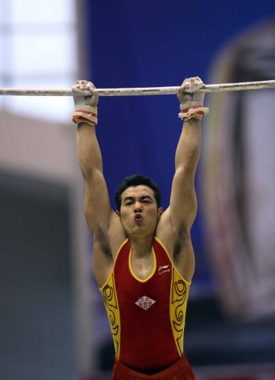 图文-全国体操锦标赛男子全能赛况吕博肌肉发达