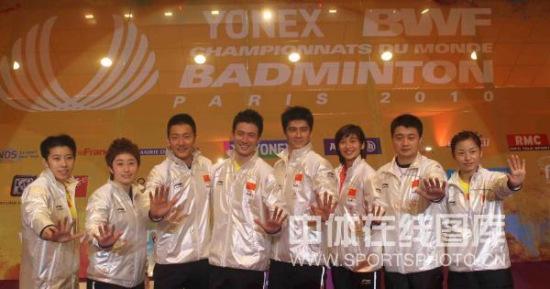 图文-世锦赛蔡�S/付海峰夺冠属于我们的五金齐放