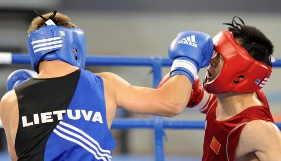 图文-[武搏会]中国选手张建艇夺冠张建艇面部中拳