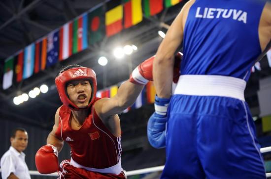 图文-[武搏会]孟繁龙获81公斤级冠军远程出拳强攻