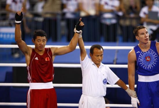 图文-[武搏会]孟繁龙获81公斤级冠军孟繁龙获胜