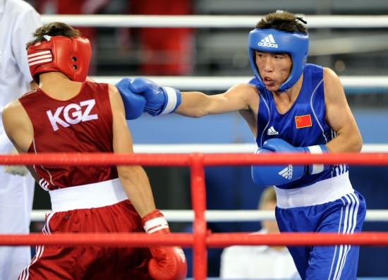 图文-[武搏会]胡日查毕力格获亚军直拳击中对手
