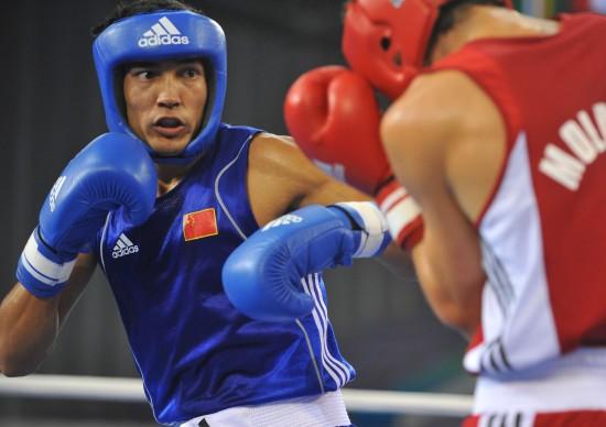 图文-[武搏会]拳击比赛第二日赛况中国选手不放弃