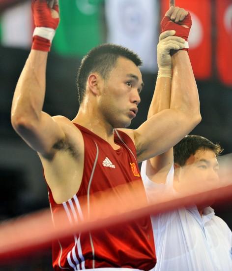 图文-[武搏会]中国选手张建艇夺冠张建艇举起双手