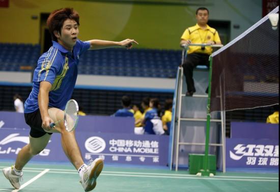 图文-羽毛球全国团体锦标赛赛况湖北队选手陈诚