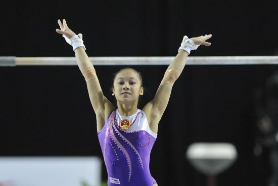 图文-体操世界杯根特站赛况吴柳芳表现完美
