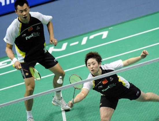 图文-羽毛球大师赛混双徐晨于洋惜败获亚军