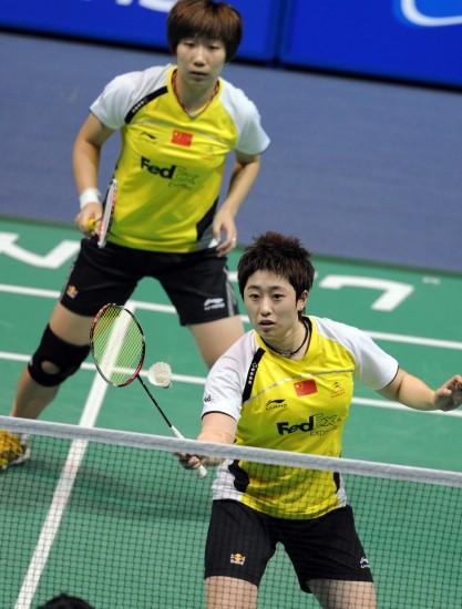 图文-中国羽毛球大师赛女双决赛新组合首战夺冠