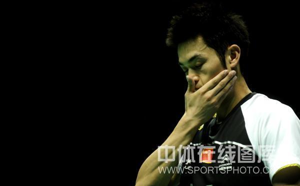 图文-中国羽毛球大师赛林丹夺冠反思一下失误