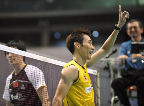 图文-日本羽毛球公开赛24日战况李宗伟完胜鲍春来