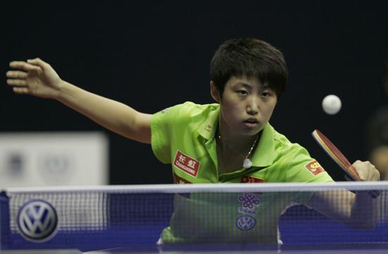 图文-女乒世界杯首轮战况郭跃斗志旺胜拿下对手