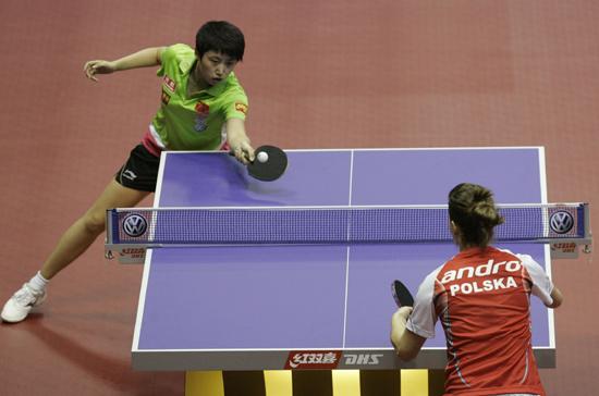 图文-女乒世界杯首轮战况郭跃轻取对手进次轮