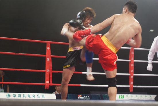 图文-武术散打超级联赛陕西胜北京赵方伟PK周家青