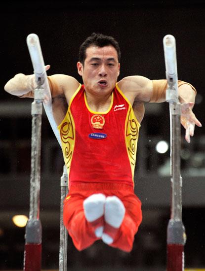 图文-体操世锦赛中国男团预赛吕博表现很是沉稳