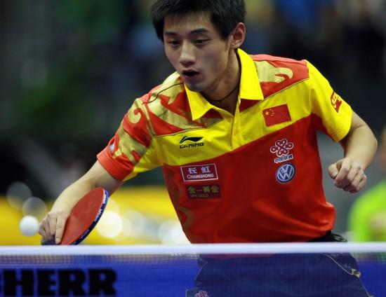 图文-[乒乓球]男子世界杯赛赛况张继科小心回球