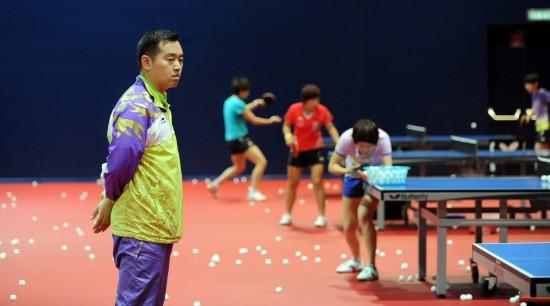 国际-中国队在奥地利观看世乒赛孔令辉备战训香港板球六人图文赛图片