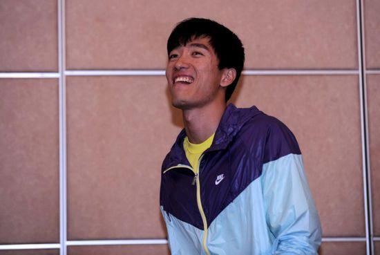 刘翔终于笑了