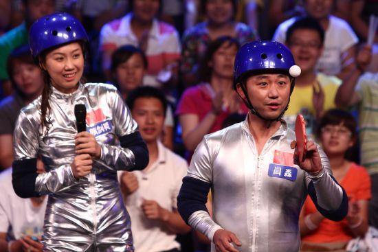 图文-全民健身奥运冠军参加墙来啦 闫森花式乒乓球图片
