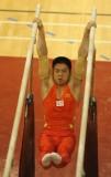 朱晓东资格赛双杠比赛