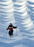 雪场波纹荡漾