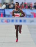 埃塞俄比亚选手德尔戈冲刺