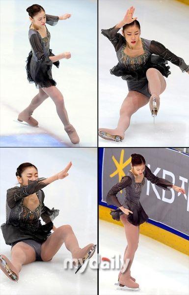 金妍儿摔倒瞬间